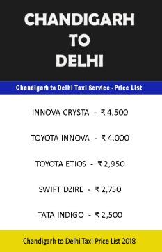 chandigarh delhi taxi price list copy