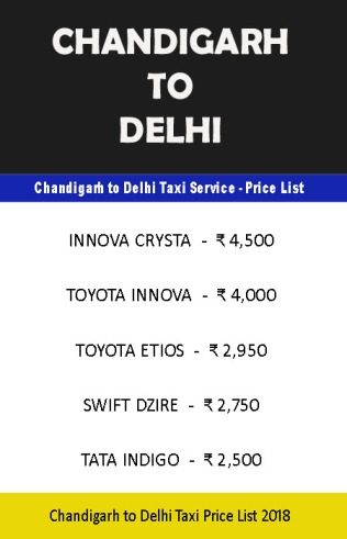 chandigarh delhi taxi price list copy