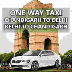 book one way taxi from chandigarh to delhi airport