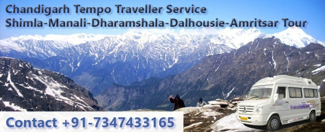 book luxury tempo traveller chandigarh to shimla manali dharamshala dalhousie amritsr tour packages