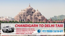 Book online taxi from Chandigarh to Delhi airport