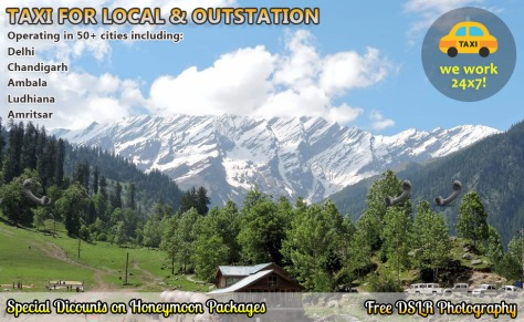 chandigarh to manali taxi booking
