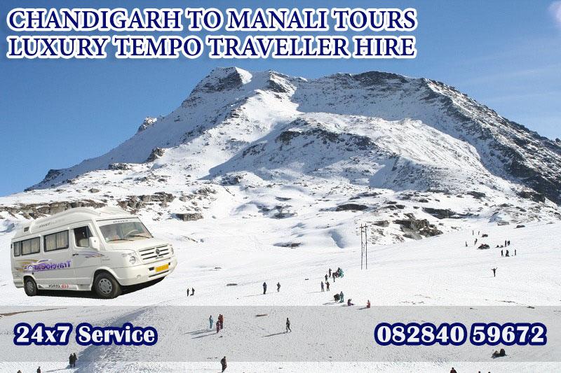 chandigarh to manali tempo traveller tour