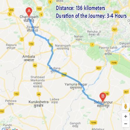 chandigarh to saharanpur distance.jpg