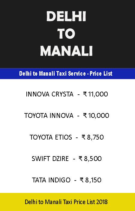 Delhi airport to Manali taxi cheap best