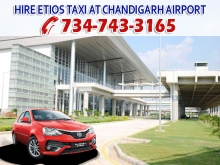 hire taxi service at chandigarh airport mohali