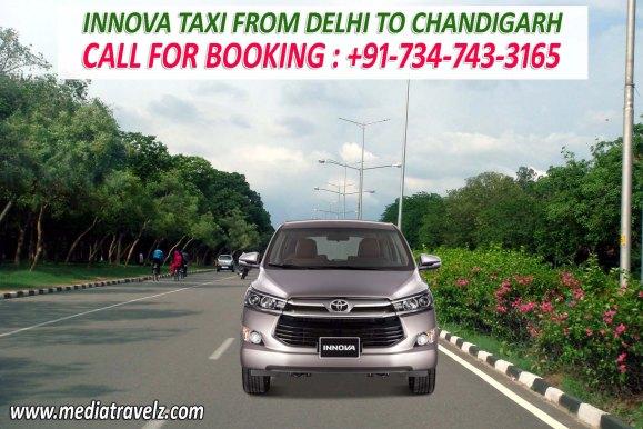 innova taxi from delhi to chandigarh