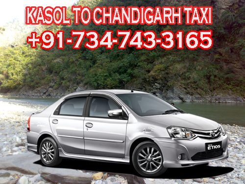kasol to chandigarh taxi