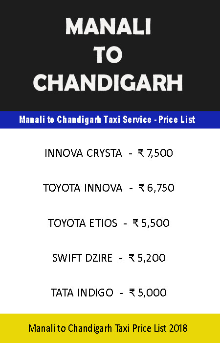 One way taxi from Chandigarh to Manali