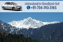 Chandigarh to McLeodGanj Dharamshala taxi tours
