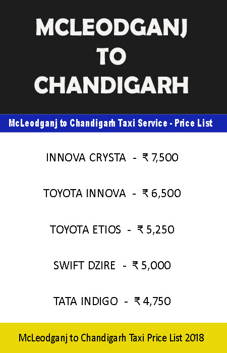mcleodganj to chandigarh taxi