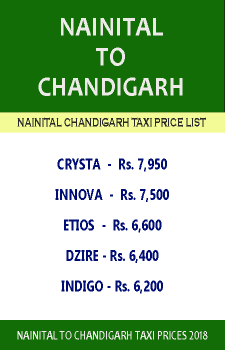 nainital to chandigarh taxi price list.jpg