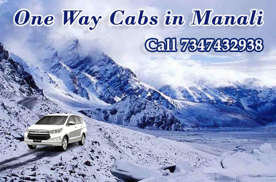 one way cabs in manali