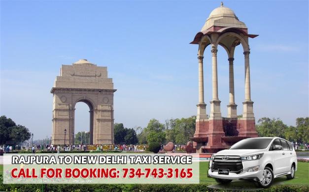 rajpura to new delhi taxi service contact