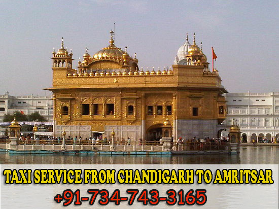 Taxi Service from Chandigarh to Amritsar