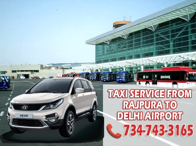 taxi service from rajpura to delhi airport