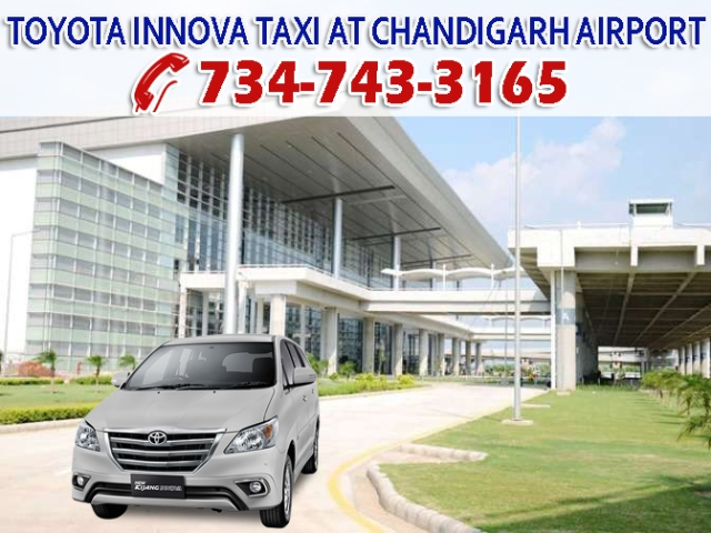toyota innova taxi chandigarh airport