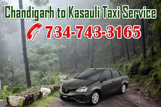 Chandigarh to Kasauli Taxi Service