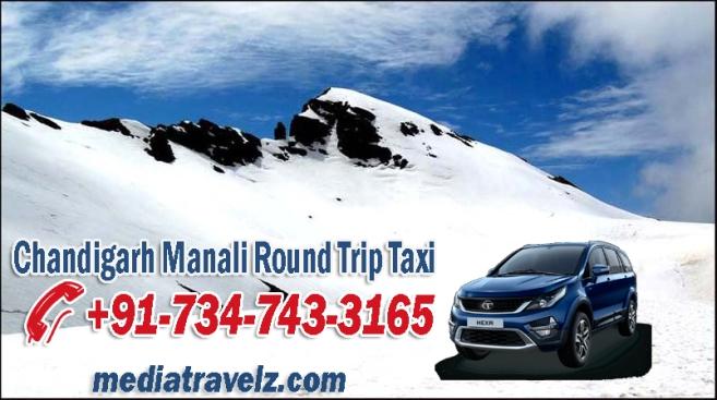 chandigarh manali round trip taxi