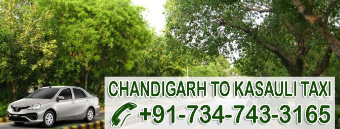 Chandigarh to Kasauli Taxi