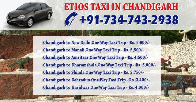 etios cabs in chandigarh