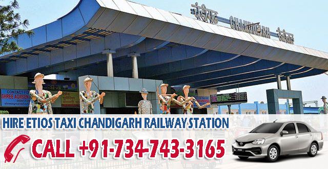 hire etios taxi chandigarh railway station