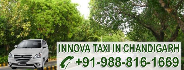 innova taxi chandigarh fare