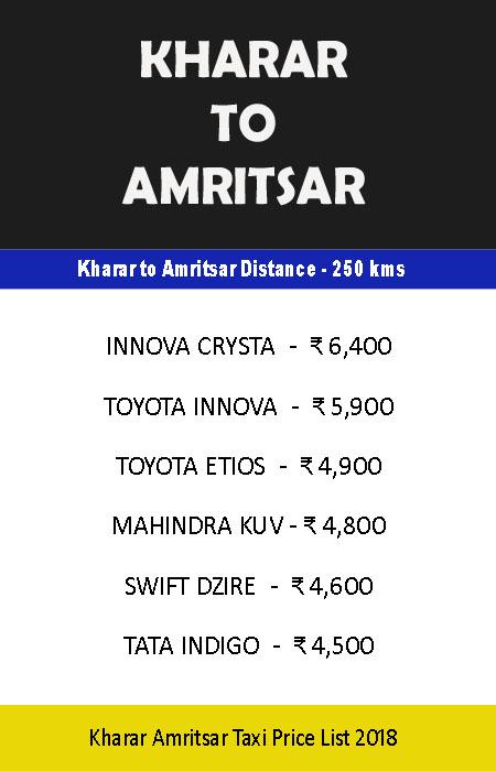 khara to amritsar taxi
