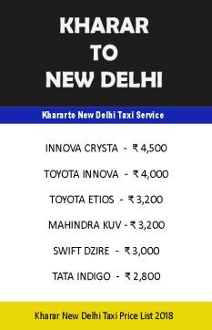 kharar to delhi taxi
