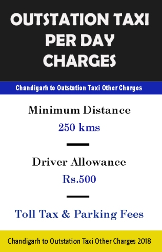 outstation taxi per day charges