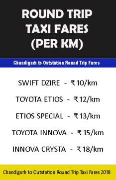 round trip taxi from chandigarh to outstation