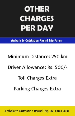 taxi in ambala outstation