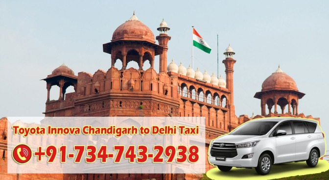 Innova Taxi from Chandigarh to Delhi