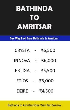 bathinda to amritsar taxi