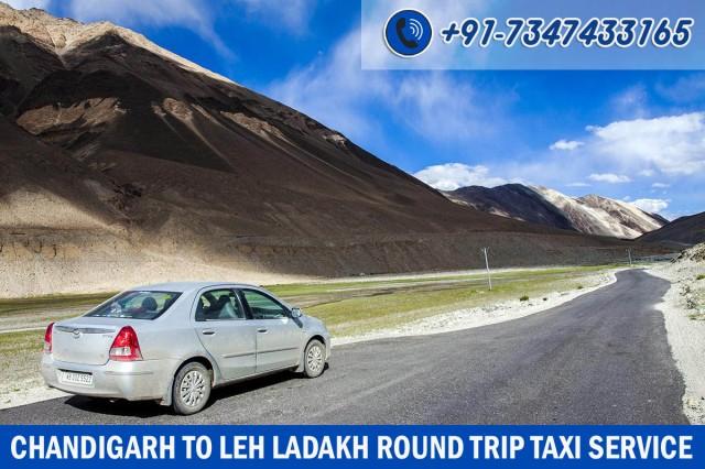 chandigarh leh round trip taxi service