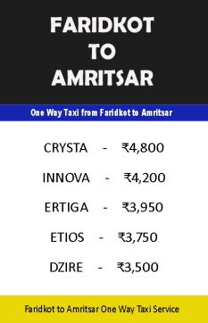 faridkot to amritsar taxi