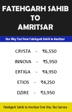 fatehgarh sahib to amritsar taxi