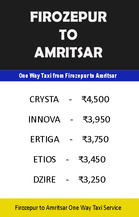 firozepur to amritsar taxi