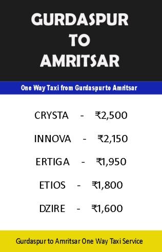 gurdaspur to amritsar taxi