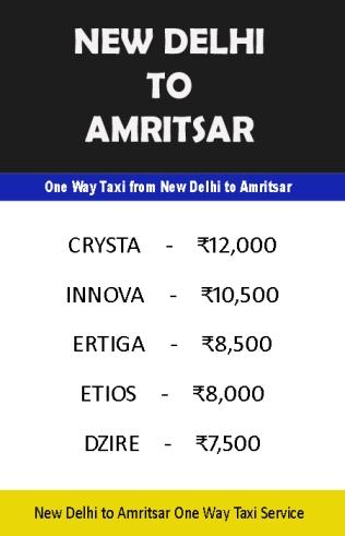 new delhi amritsar taxi service