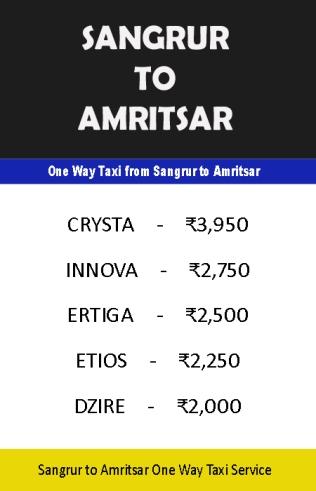 sangrur to amritsar taxi