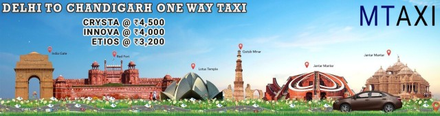 best taxi service in chandigarh delhi airport one way cabs