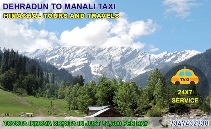 Dehradun to Manali Taxi