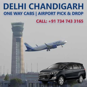 delhi airport to chandigarh innova taxi