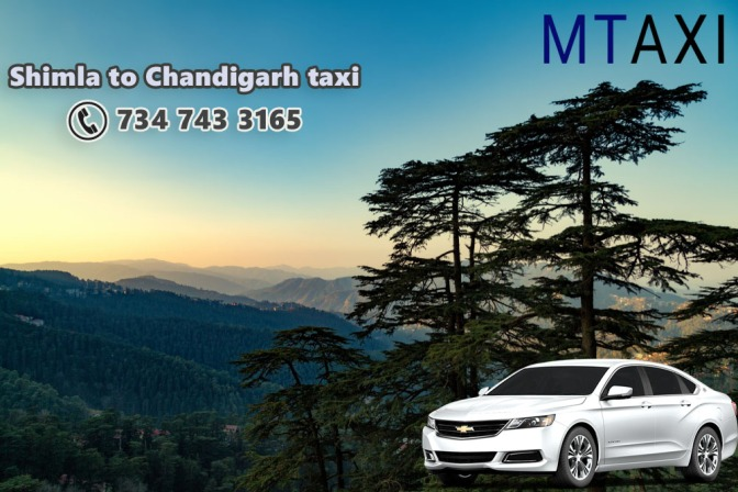 Shimla to Chandigarh Taxi