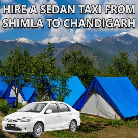 shimla to chandigarh sedan taxi