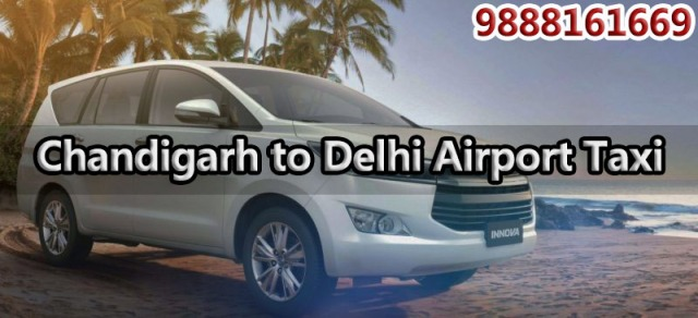 chandigarh to delhi airport one way taxi service