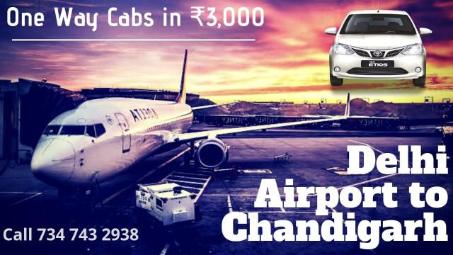 new delhi airport to chandigarh one way cab service