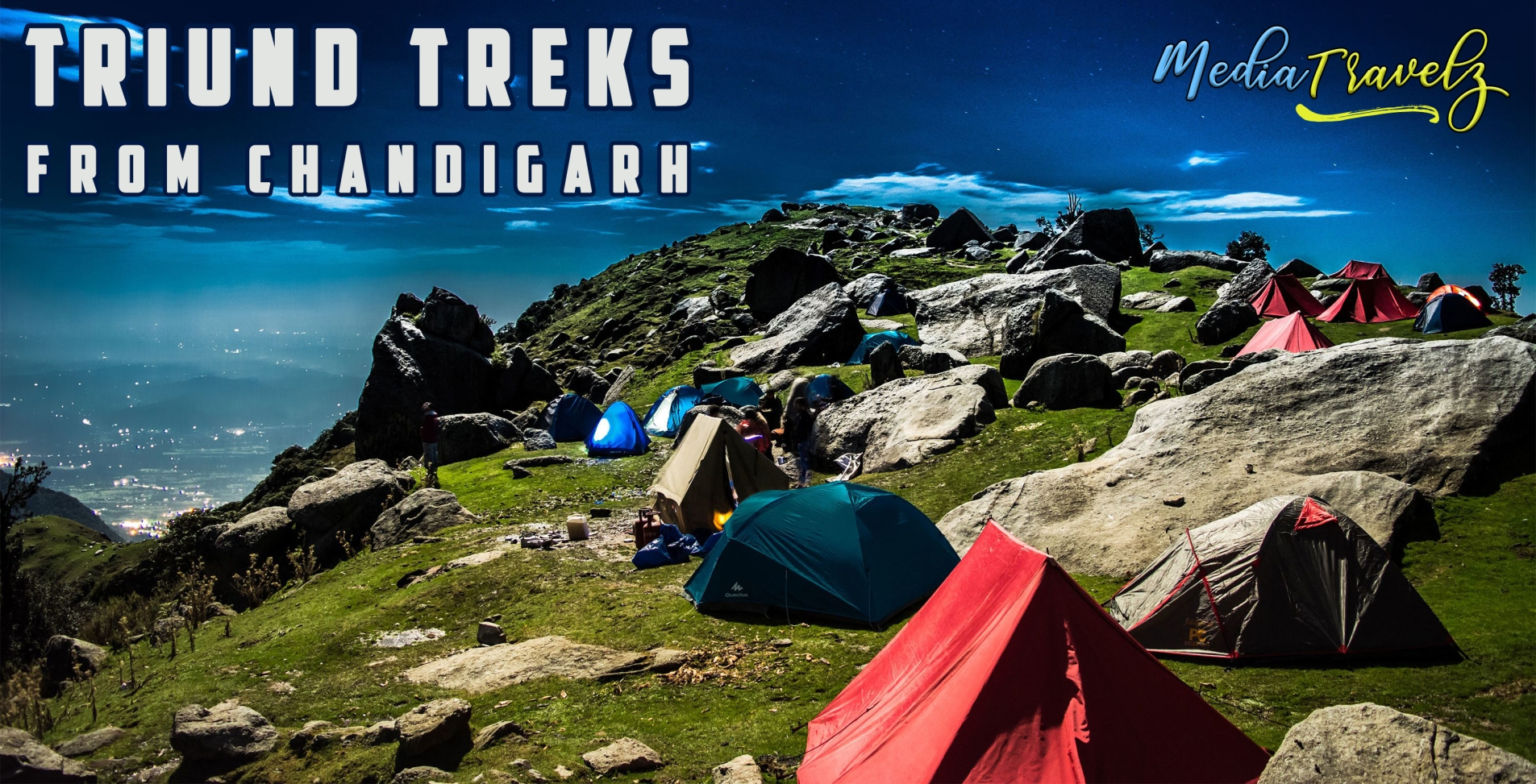 triund trek mcleodganj dharamshala nature camp group packages chandigarh